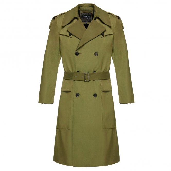 Olive Green Trench Coat - MEN from Fashion Crossover London UK