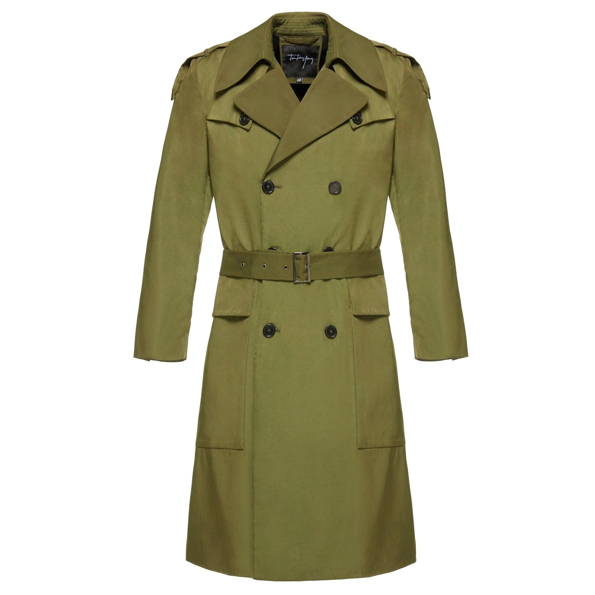 cost charm real deal high fashion Olive Green Trench Coat