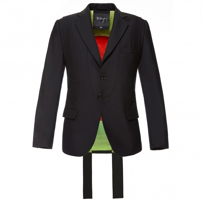 FEI FEI YANG Structured Black Wool Blazer Jacket