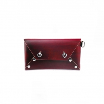 Red Studded Envelope Purse