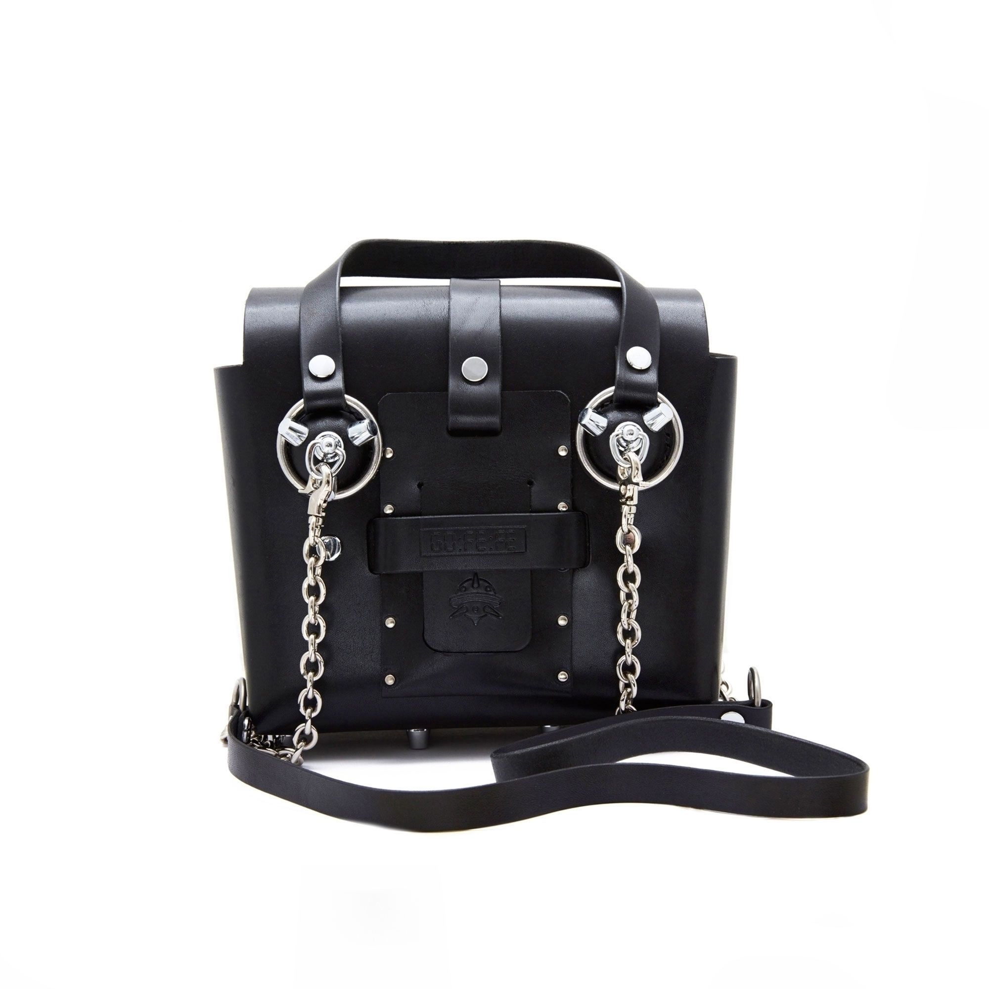 Black Silver Studded Leather Bag
