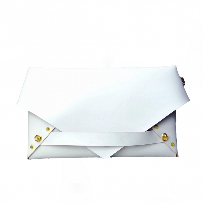 GOFEFE White Envelope Clutch