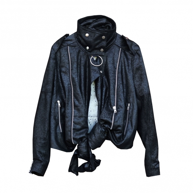HOUSE OF COMPULSION Knotted Biker Jacket