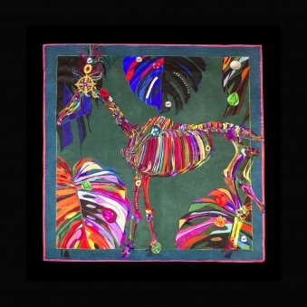 Cocktail Size Royal Ascot Silk Scarf