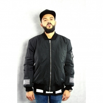 Embroidered Umbra Sumus Bomber Jacket