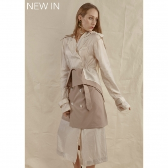 Trench Lining Dress and Deconstructed Trench Skirt