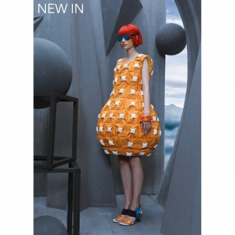 Orange Pineapple Dress