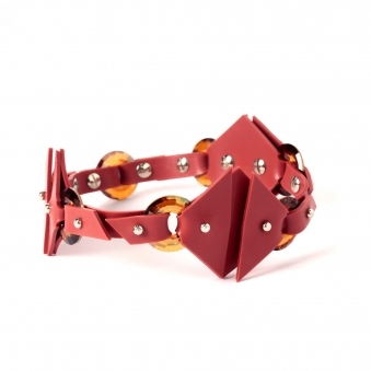 Made To Order Red Buckle Choker