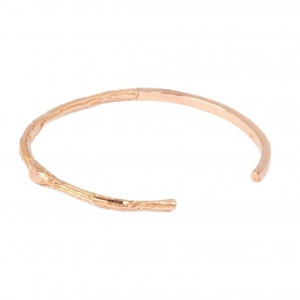 Thin Rose Gold Branch Bangle