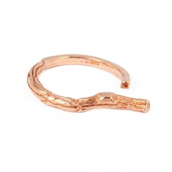 Thin Rose Gold Branch Ring