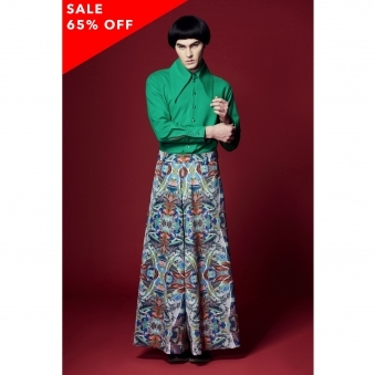 Mysterious Green Print Culottes