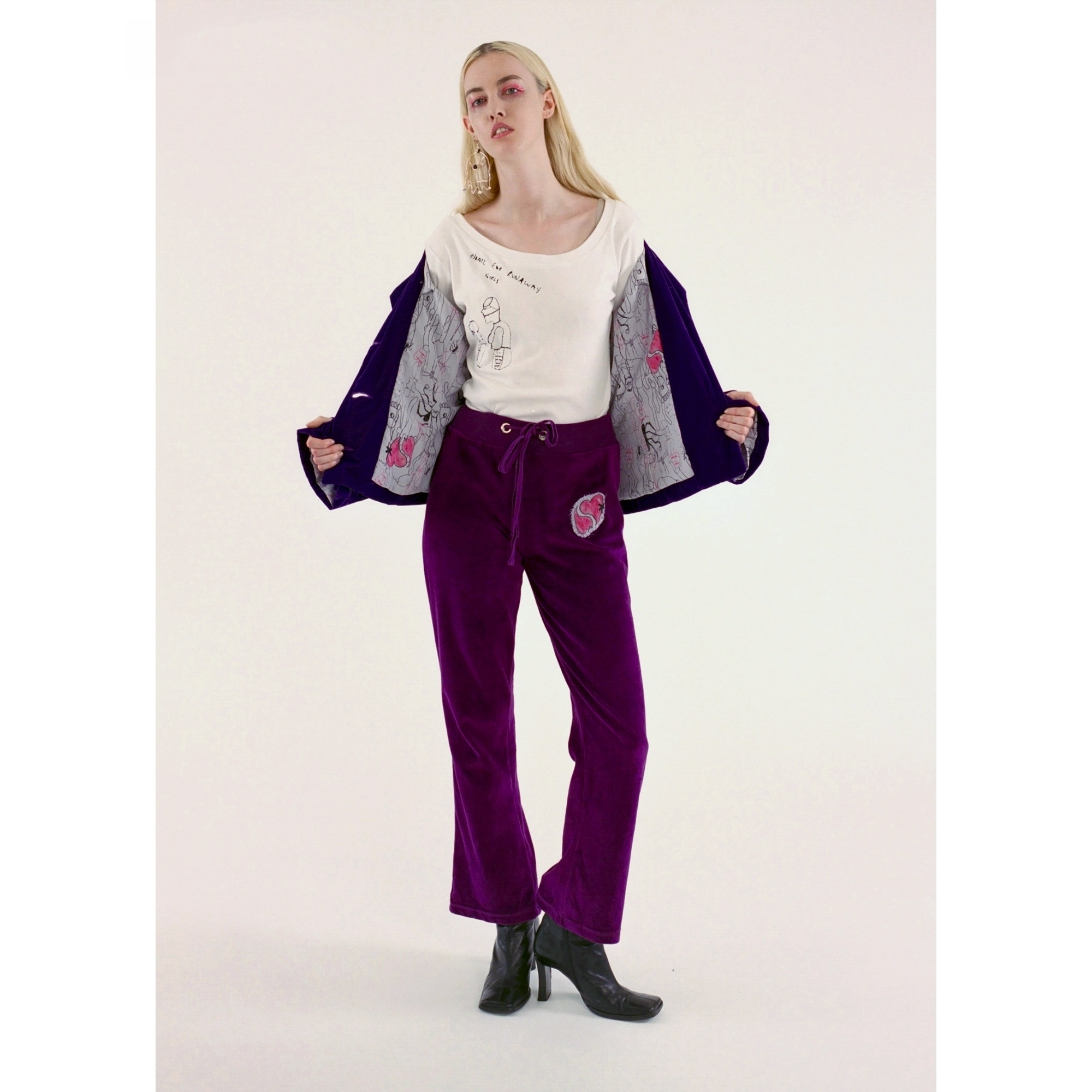 Made To Order Velour Tracksuit Bottoms Women From Fashion Crossover London Uk