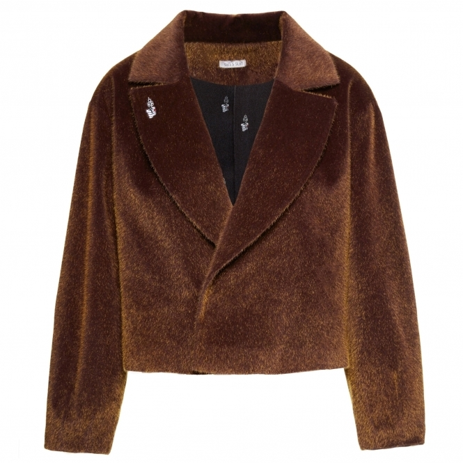 SIN'S SUIT Brown Faux Fur Short Coat