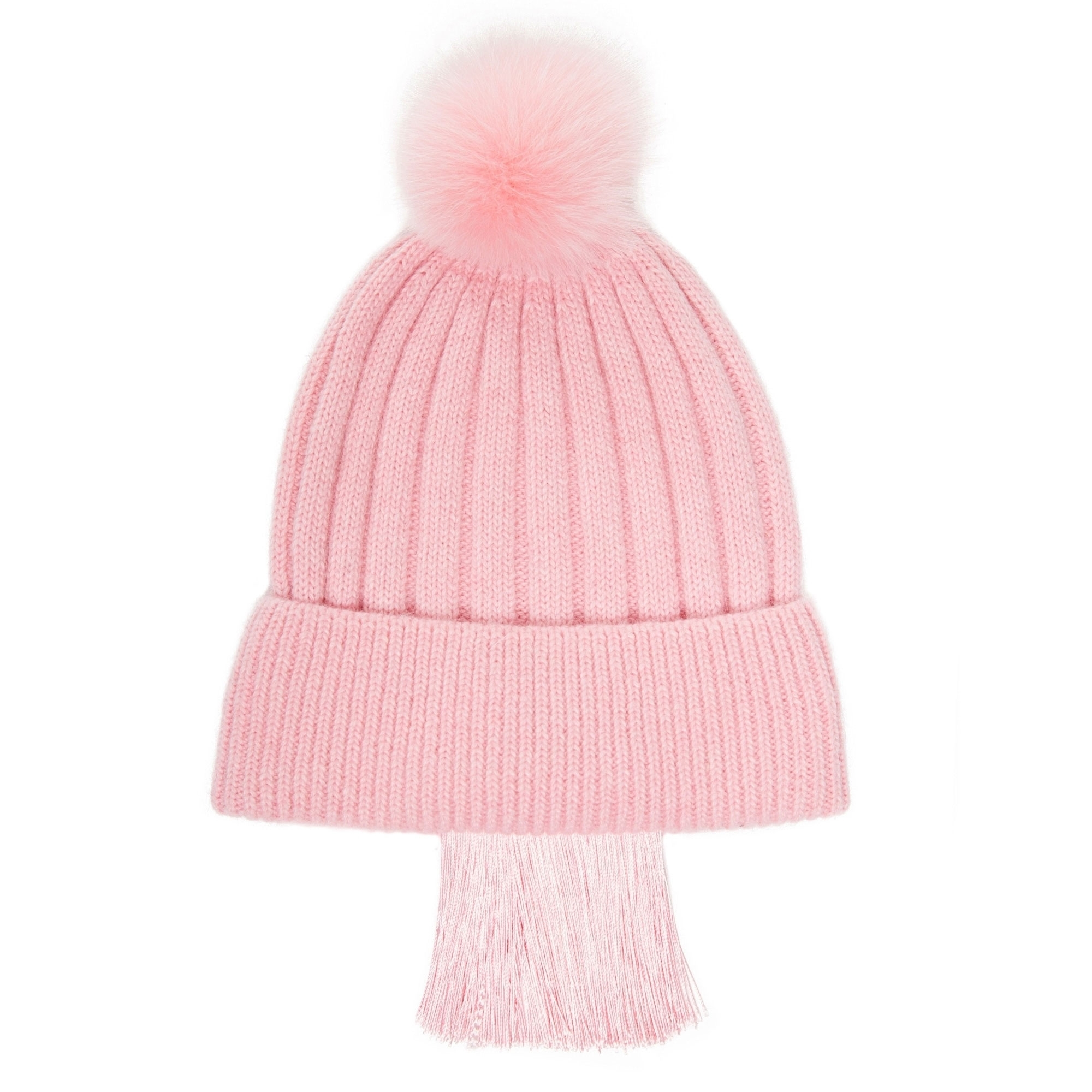 3eedb40140e SIN S SUIT Pink Tassels Fringe Knit Beanie - Accessories from ...