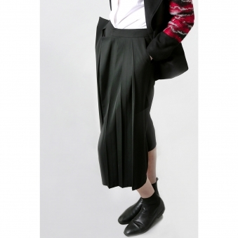Made To Order Asymmetrical Pleated Trousers