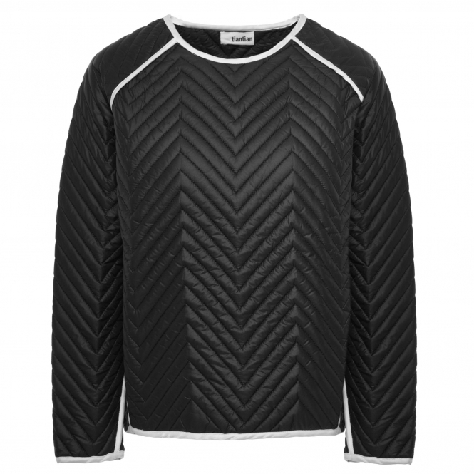 TIANTIAN Black Chevron Quilted Shirt