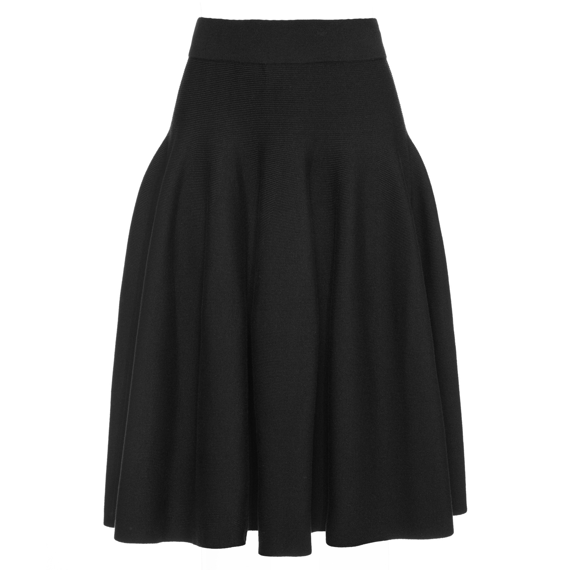 TIANTIAN Black Knit Skater Skirt - WOMEN from Fashion Crossover ... 142f223f6