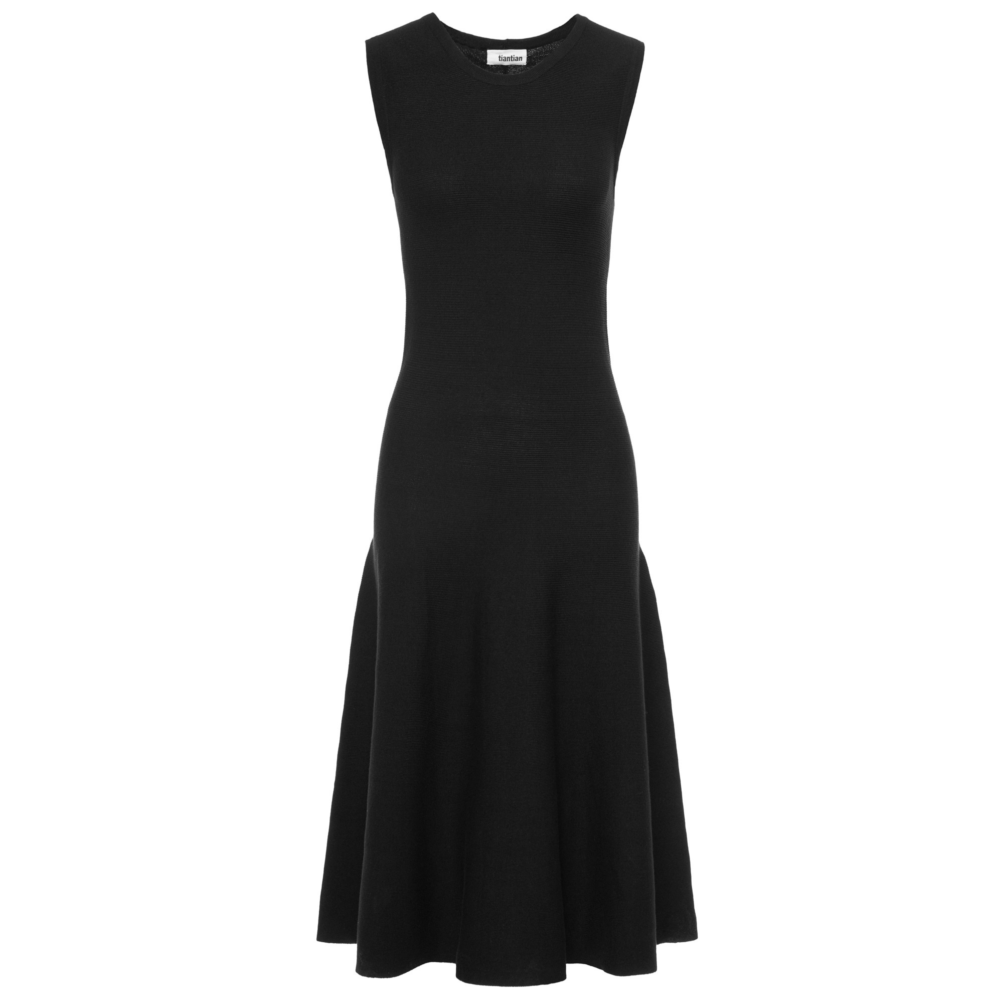 TIANTIAN Black Sleeveless Silk-Blend Midi Dress - WOMEN from Fashion ...