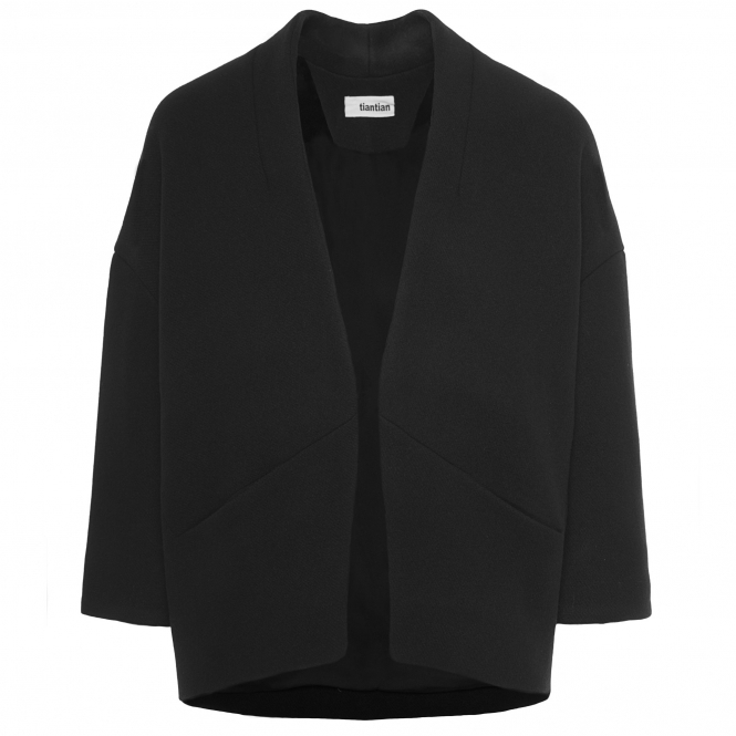 TIANTIAN Black Structured Swing Jacket