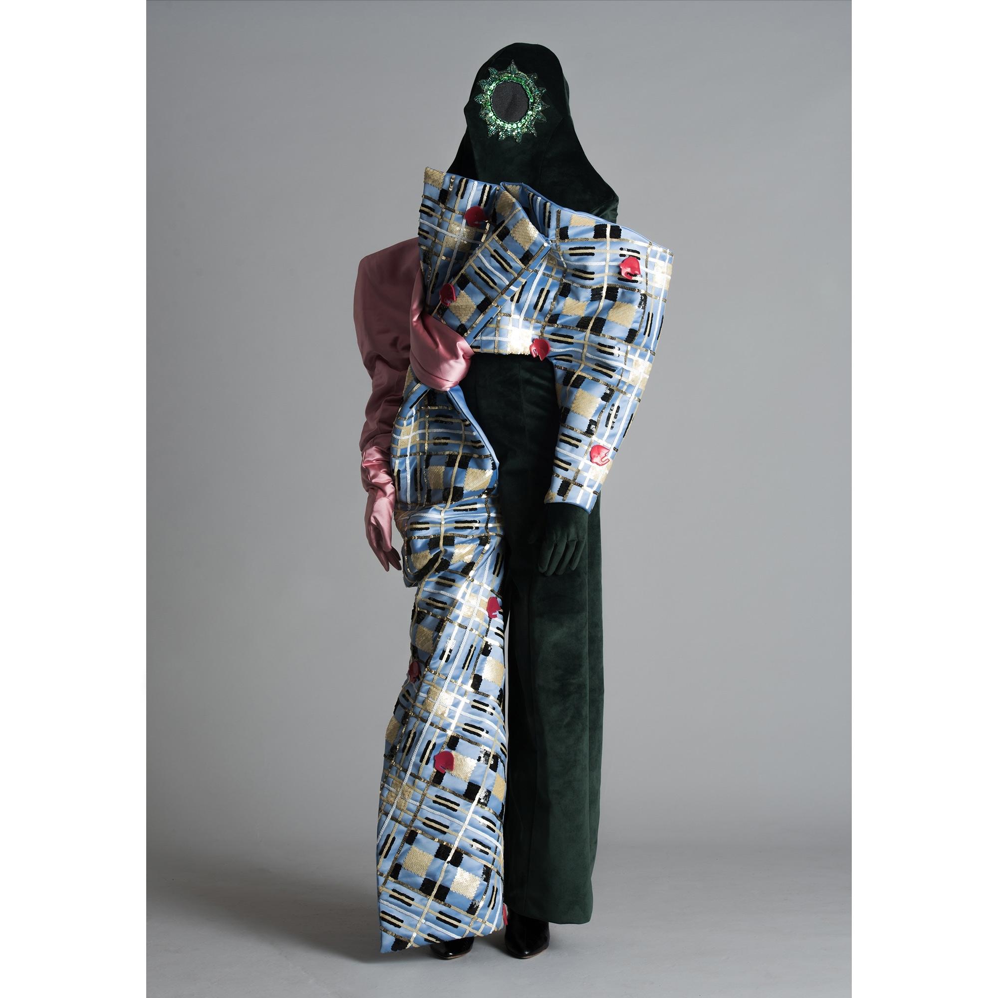 974a89920f5 VINCENT LAPP Made To Order Tartan Velvet Jumpsuit - WOMEN from ...