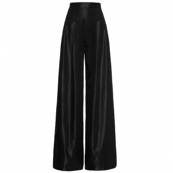 Black High Waisted Wide-Leg Pants