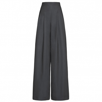 Dark Grey Reflective Wide-Leg Pants