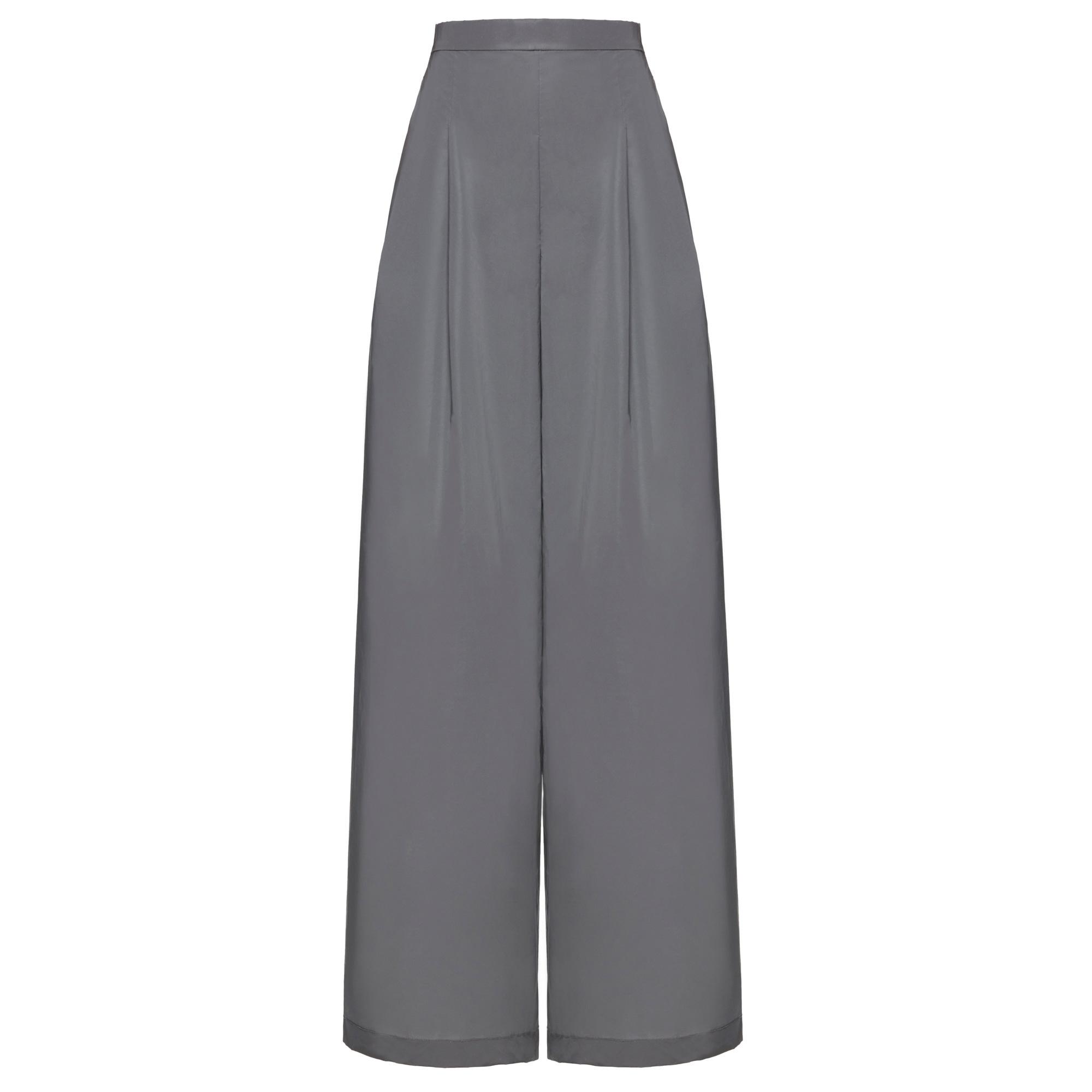 f7b45c942ac88 WANGLILING Silver Reflective Wide-Leg Pants - WOMEN from Fashion ...