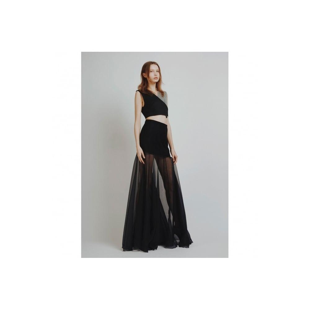 9ffa267599ac Black Chiffon Maxi Skirt - WOMEN from Fashion Crossover London UK