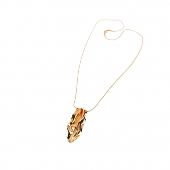 Curves of Gold Necklace