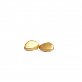 Gold Pebbles Earring
