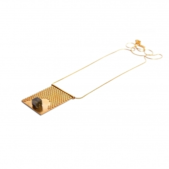 Grid & Granite Necklace