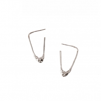 Silver Melted Earrings